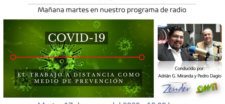 COVID-19, el trabajo a distancia como medio de prevención