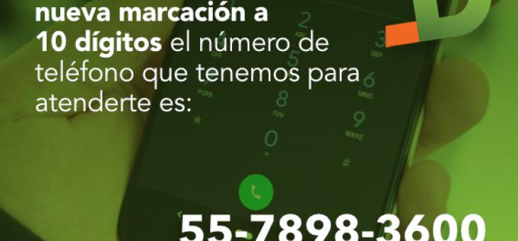 Nuevo formato de marcación en México